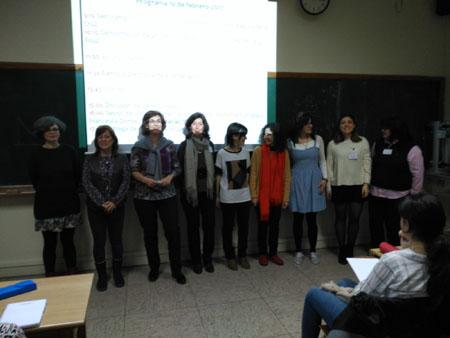 Investigadoras participantes en la Girls' Masterclass